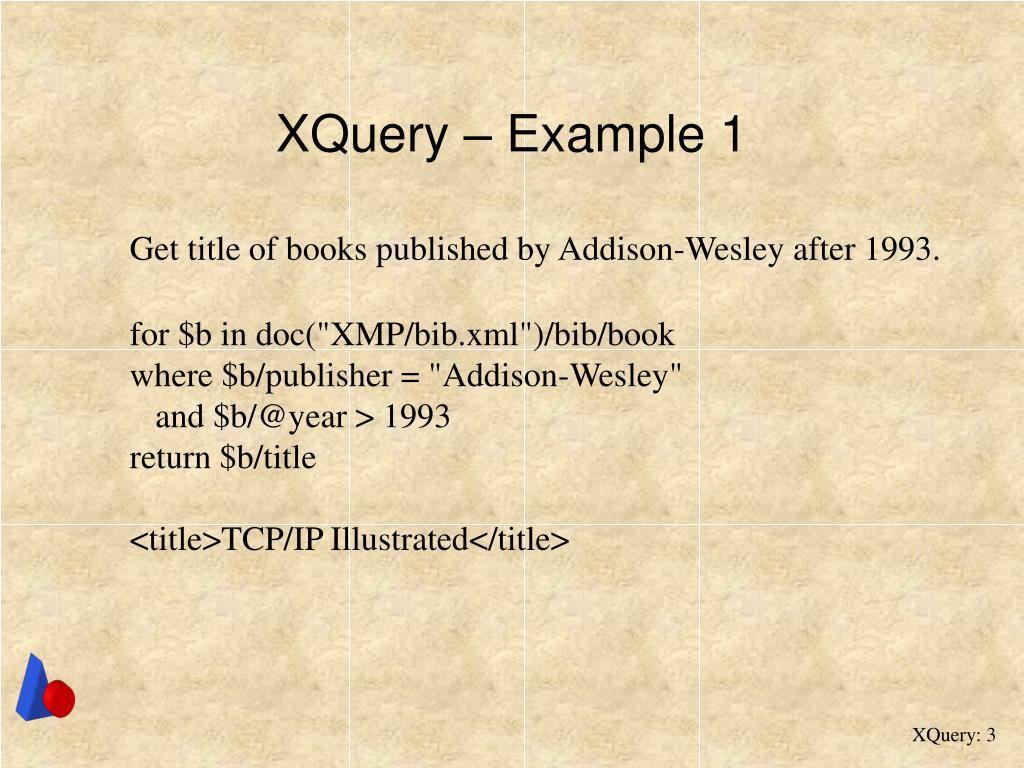 XQuery – Example 1