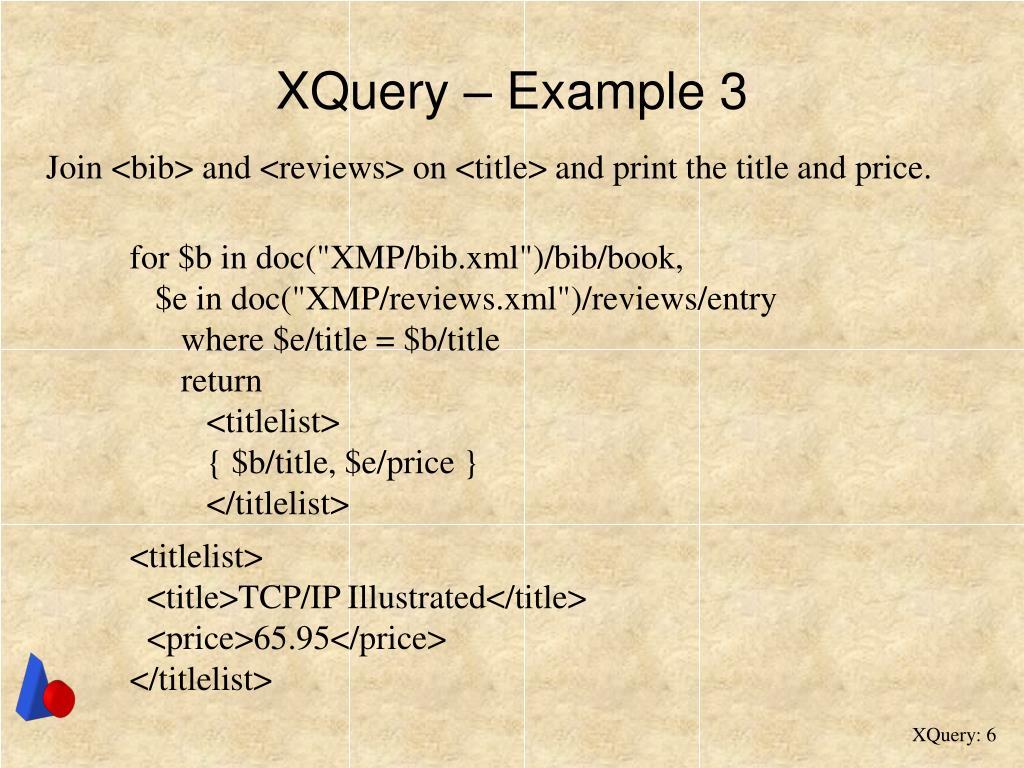 XQuery – Example 3