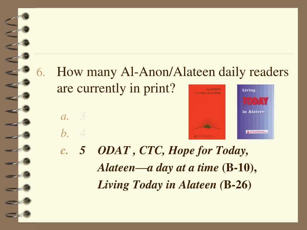 How many Al-Anon/Alateen daily readers  are currently in print?