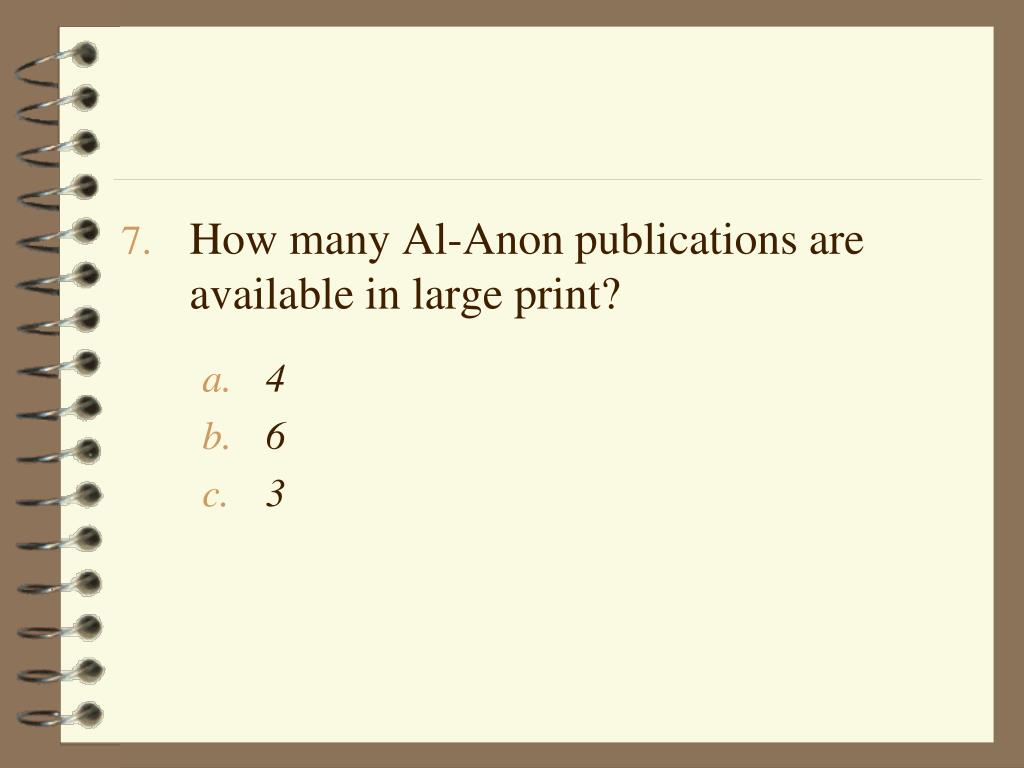 How many Al-Anon publications are available in large print?