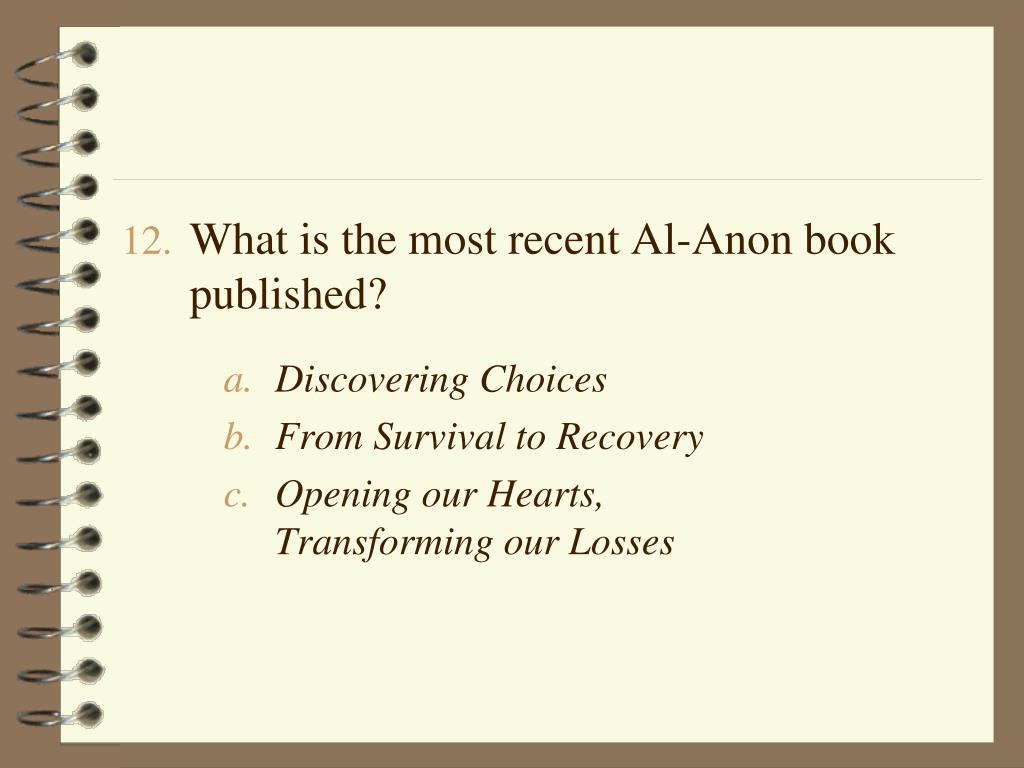 What is the most recent Al-Anon book published?