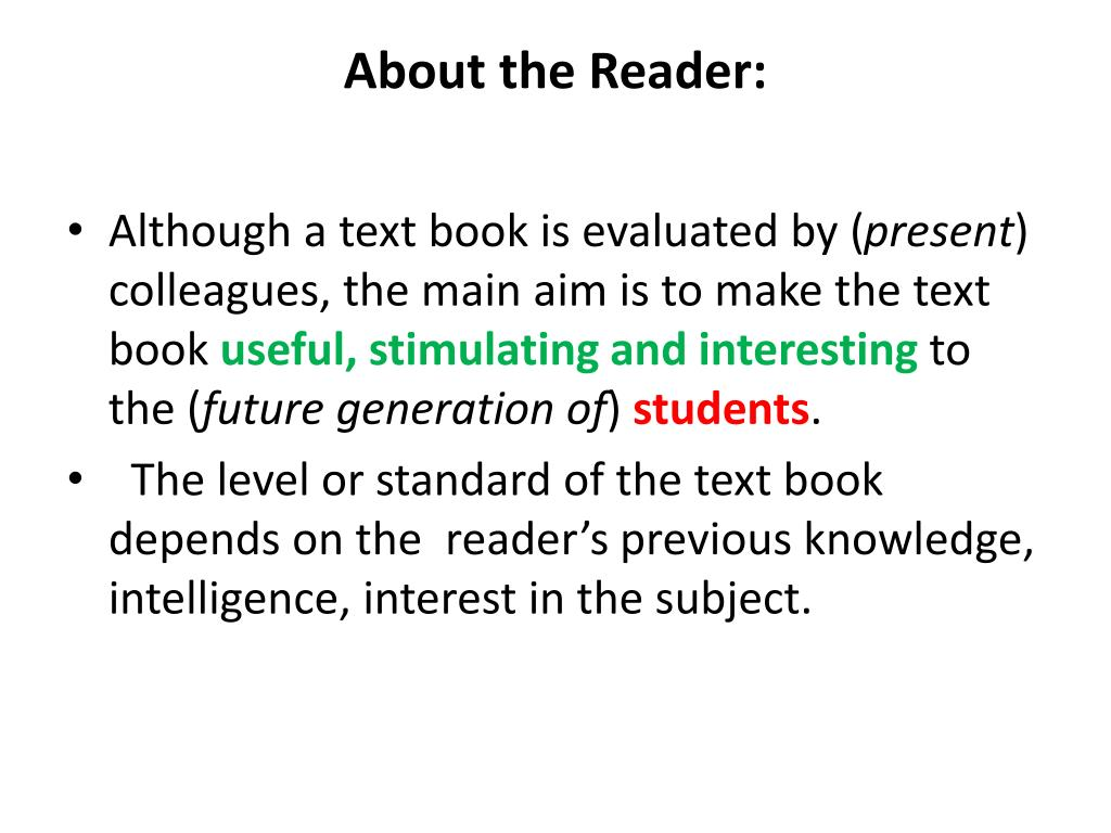 About the Reader: