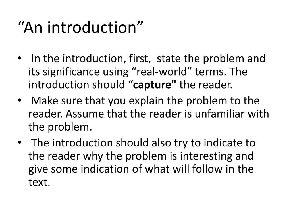 """""""An introduction"""""""