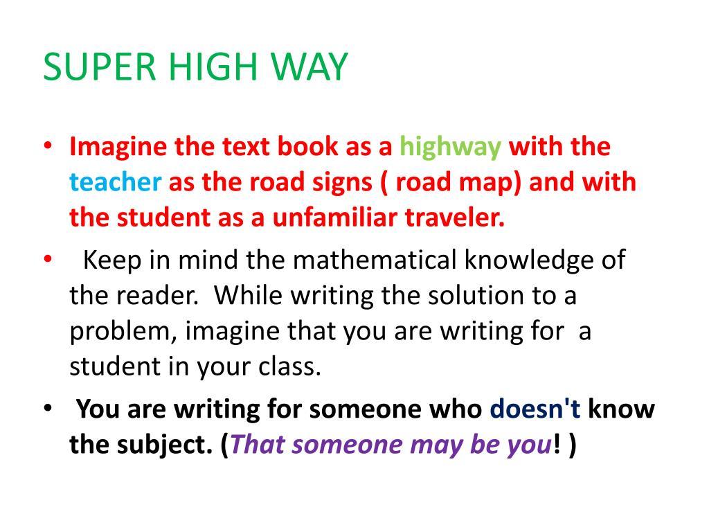 SUPER HIGH WAY