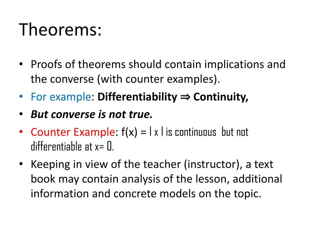 Theorems: