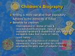 children s biography