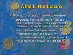 what is nonfiction