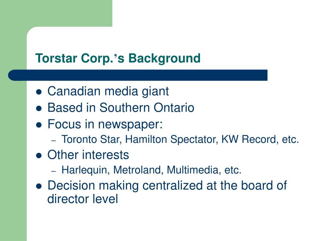 Torstar Corp.