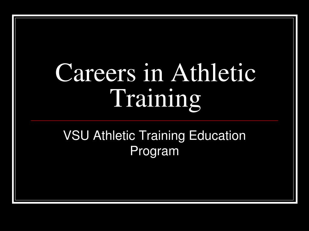 Careers in Athletic Training