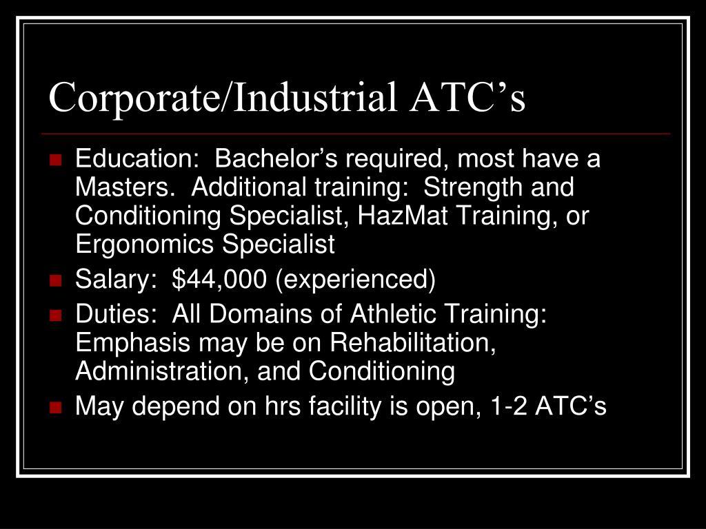 Corporate/Industrial ATC's
