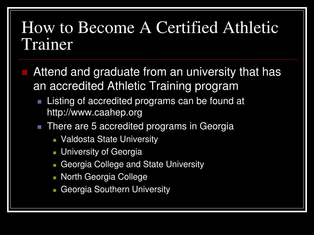 How to Become A Certified Athletic Trainer