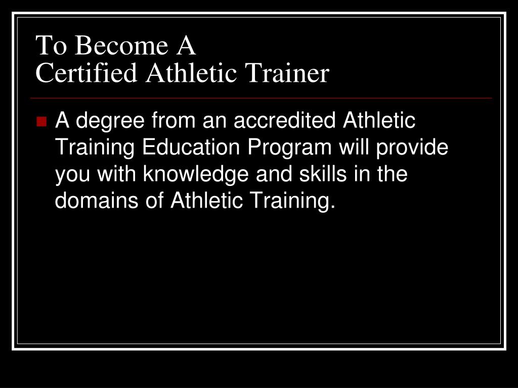 To Become A