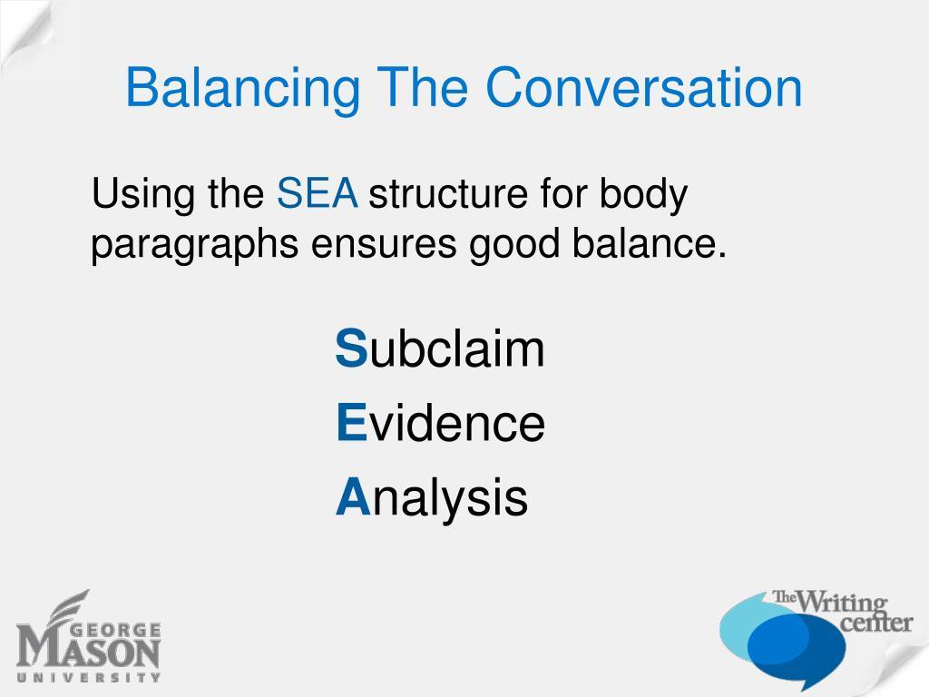 Balancing The Conversation