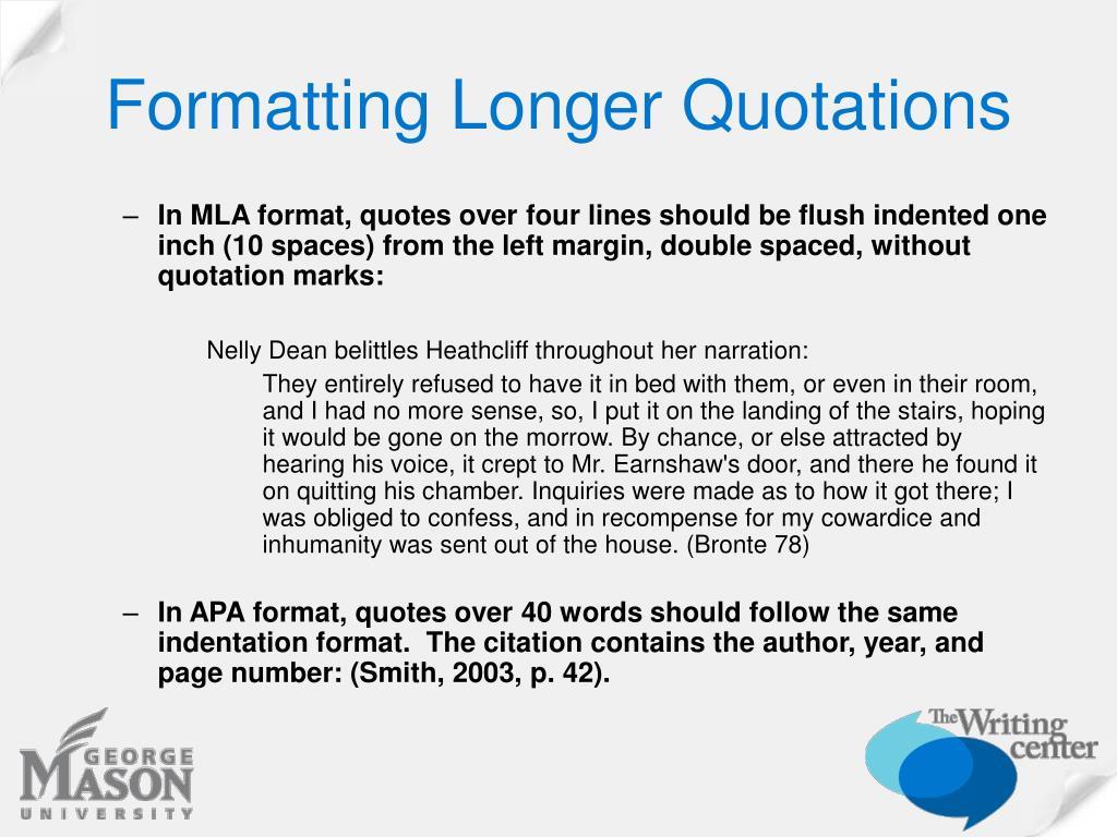 Formatting Longer Quotations