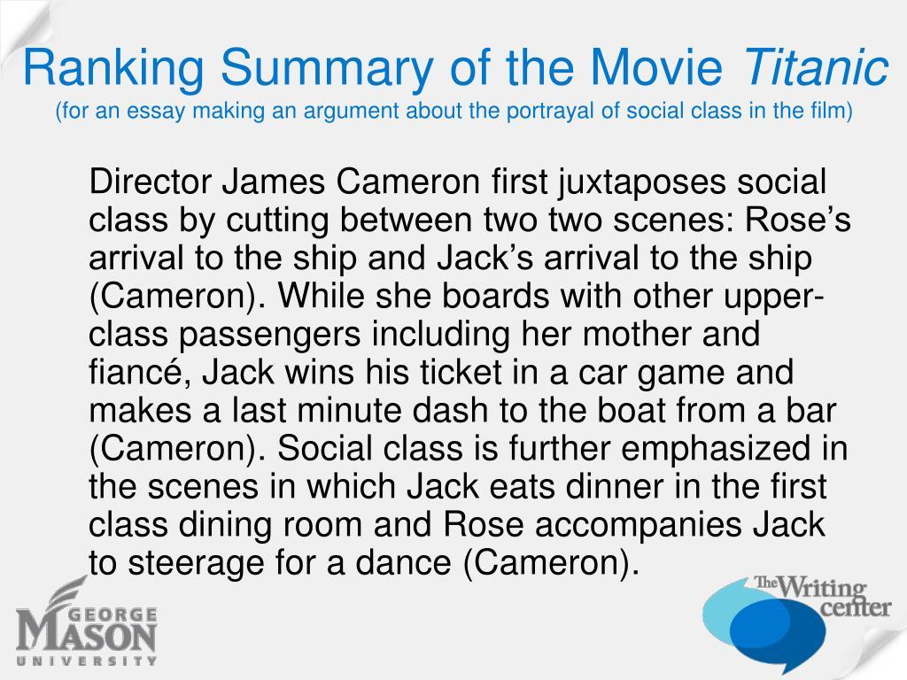 Ranking Summary of the Movie