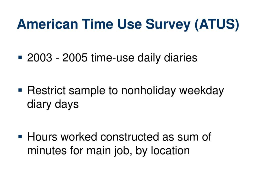 American Time Use Survey (ATUS)