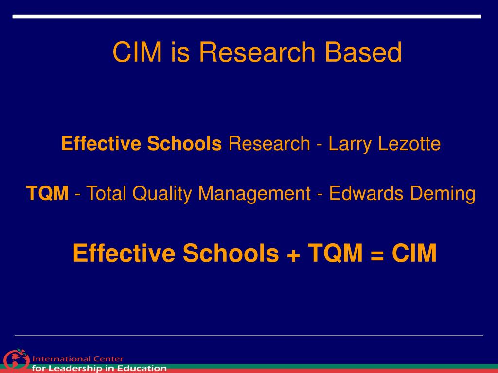CIM is Research Based