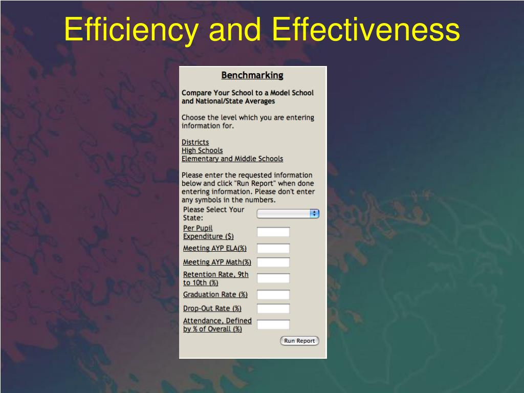 Efficiency and Effectiveness