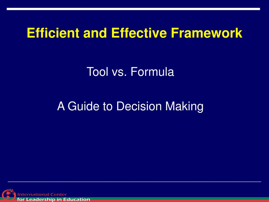 Efficient and Effective Framework