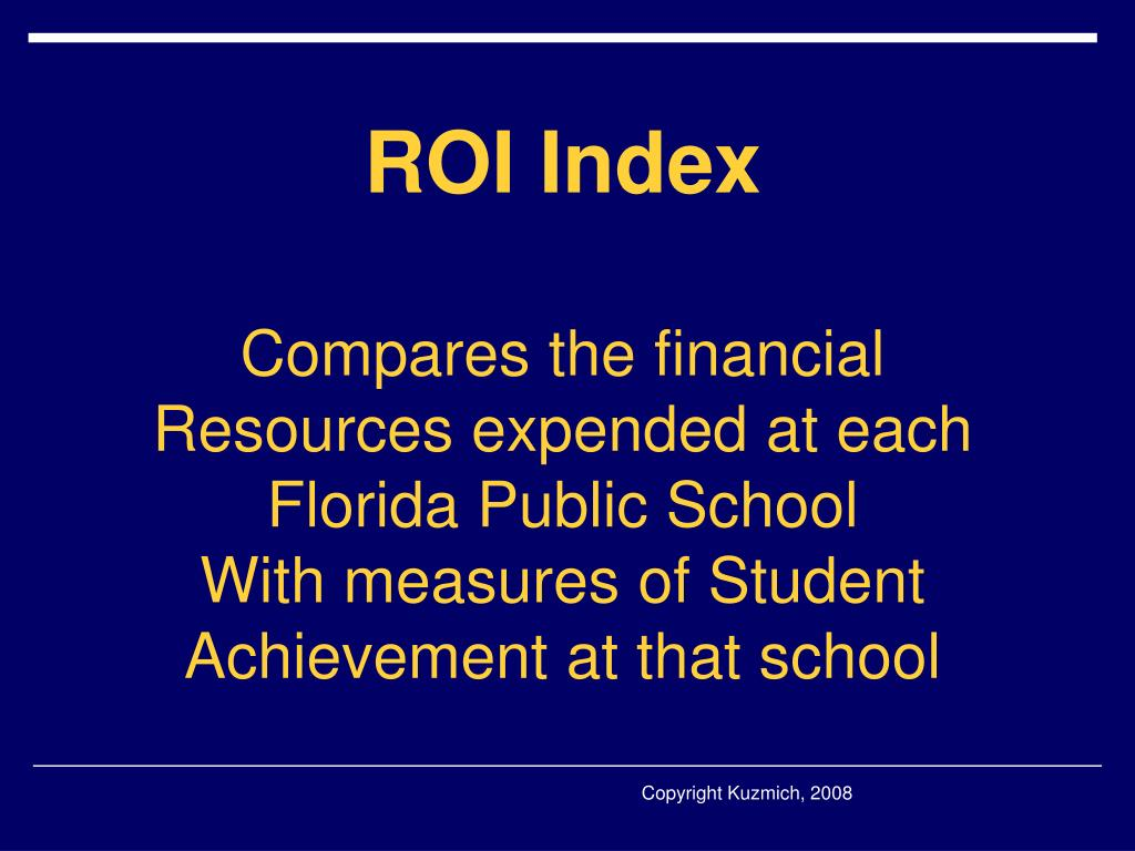 ROI Index