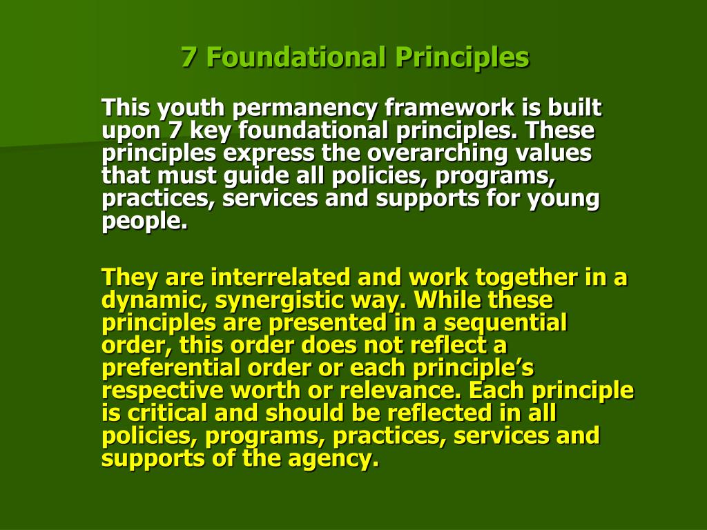 7 Foundational Principles