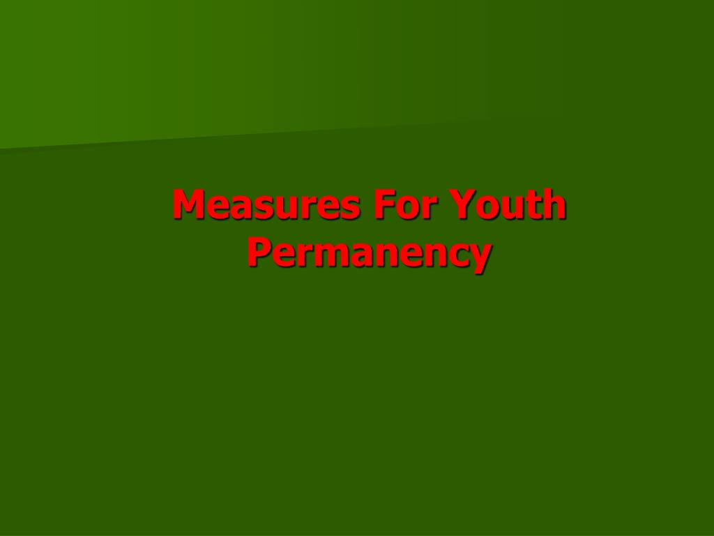 Measures For Youth Permanency