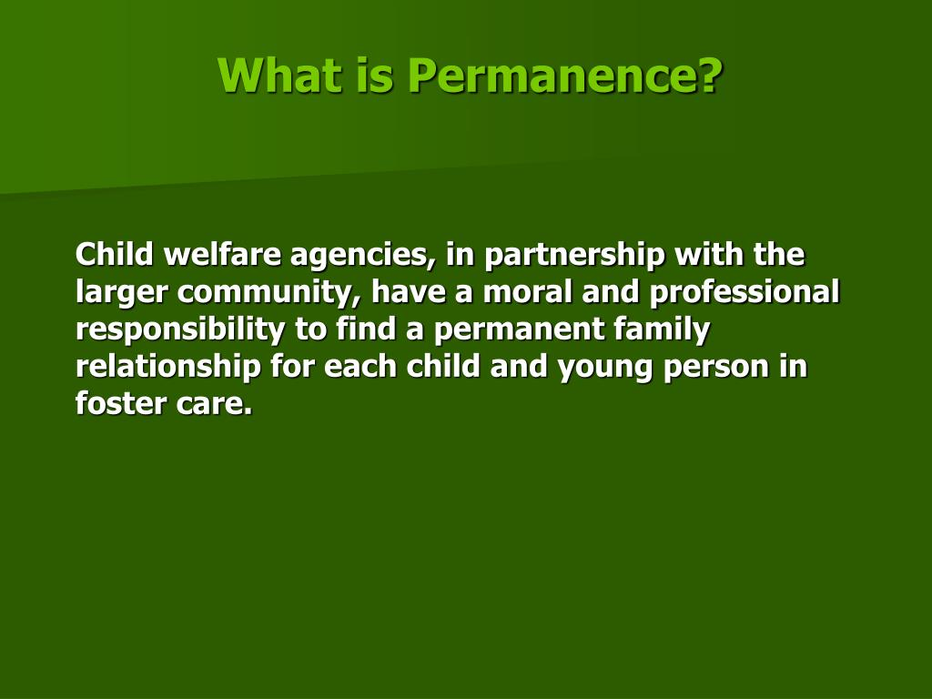 What is Permanence?