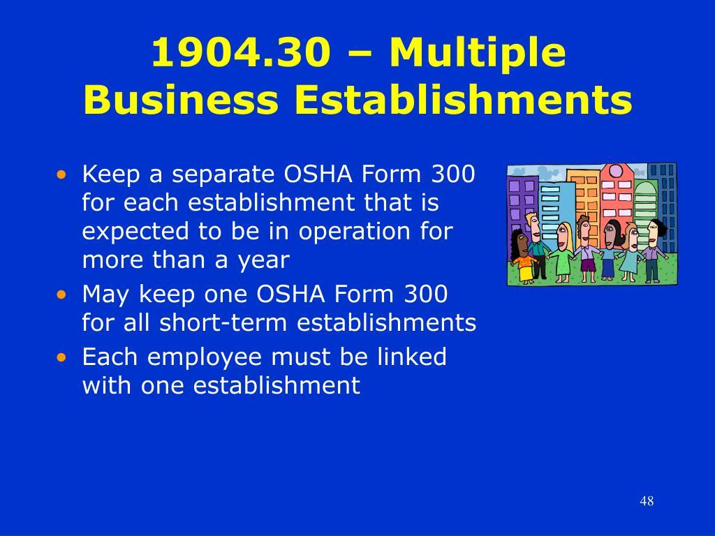 1904.30 – Multiple