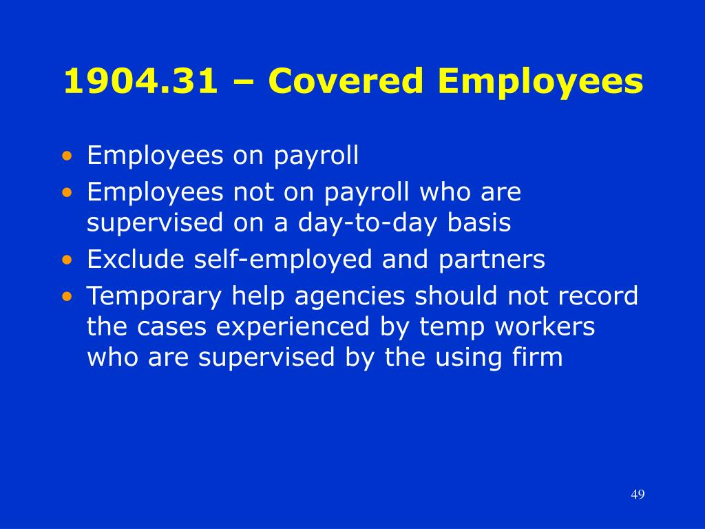 1904.31 – Covered Employees