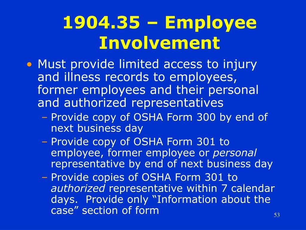 1904.35 – Employee Involvement
