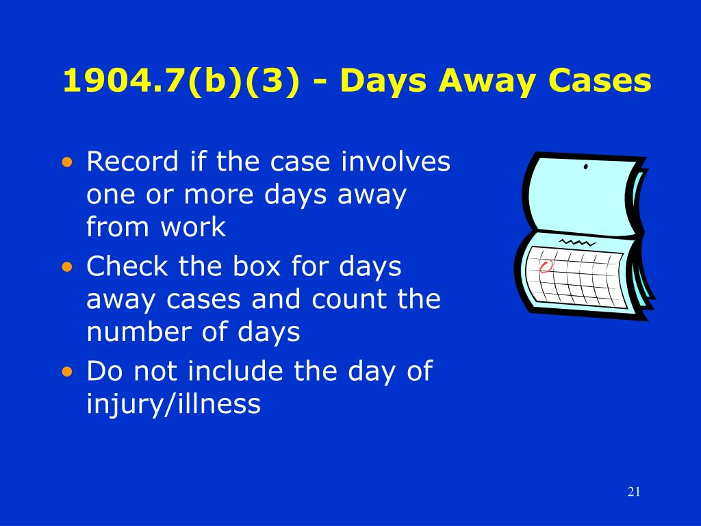 1904.7(b)(3) - Days Away Cases