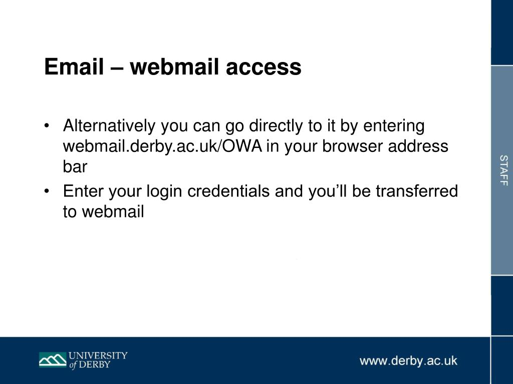 Email – webmail access