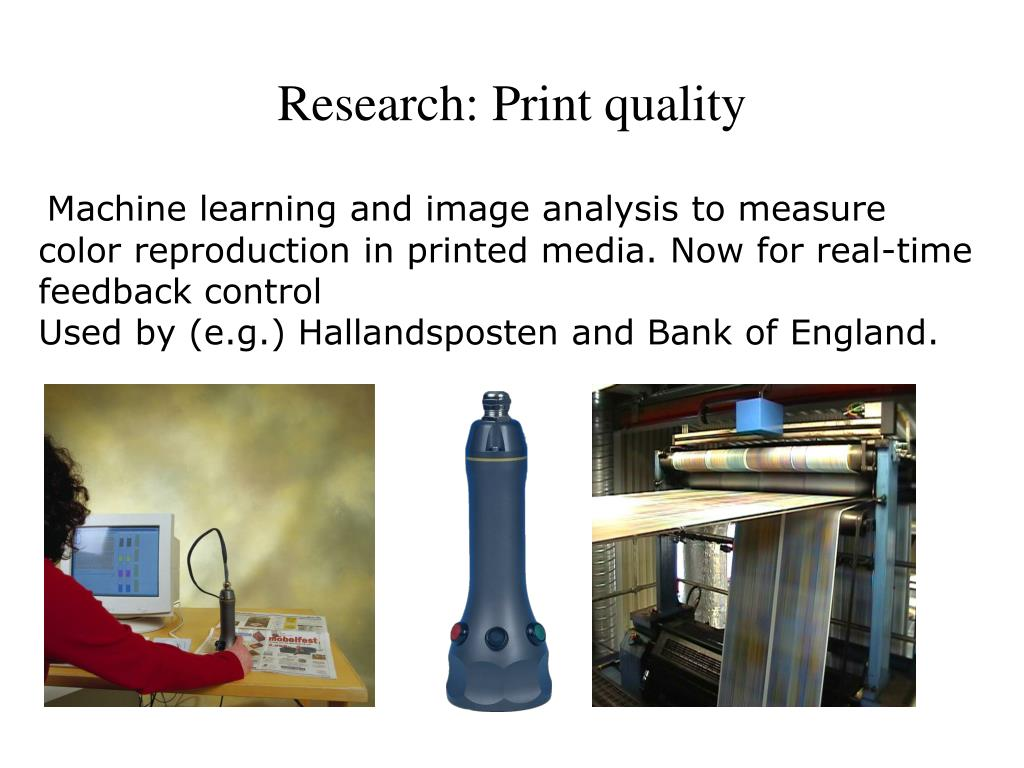 Research: Print quality