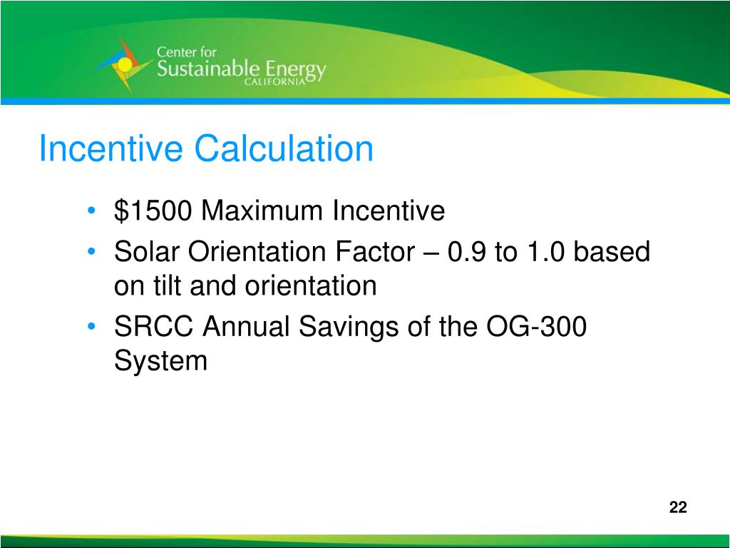 Incentive Calculation