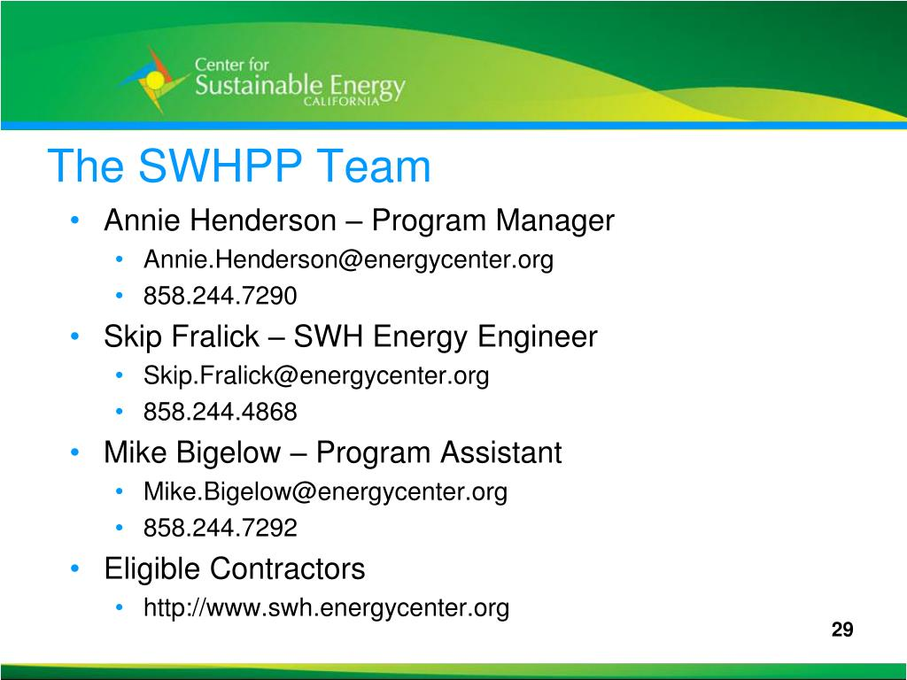 The SWHPP Team