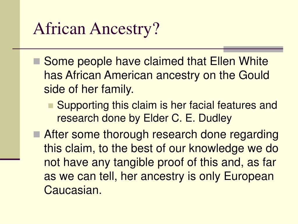 African Ancestry?