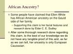 african ancestry