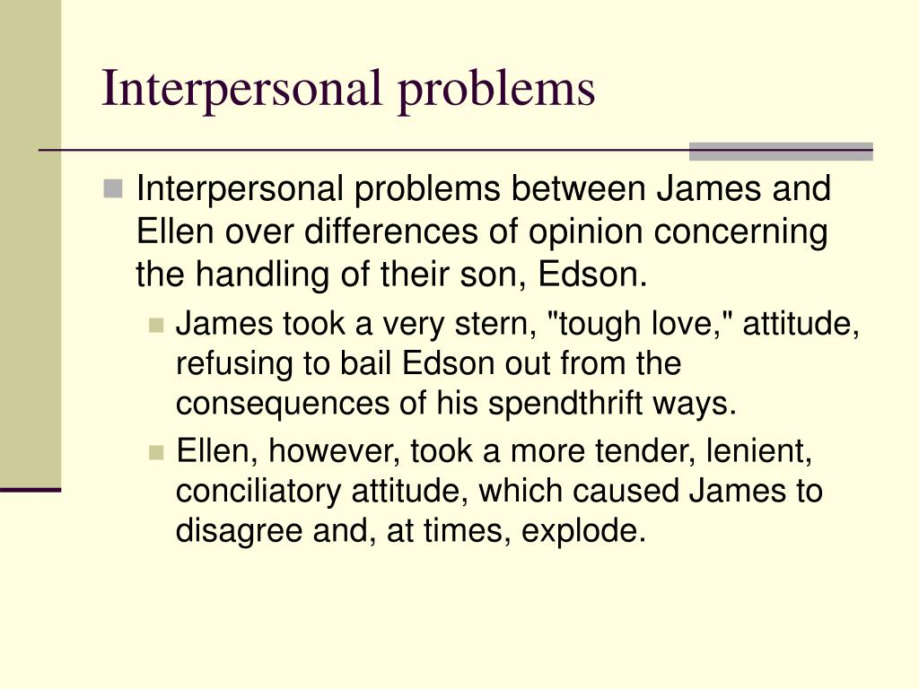 Interpersonal problems