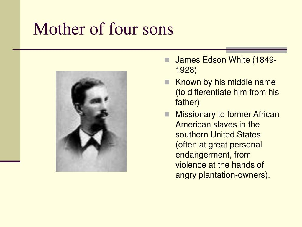 Mother of four sons