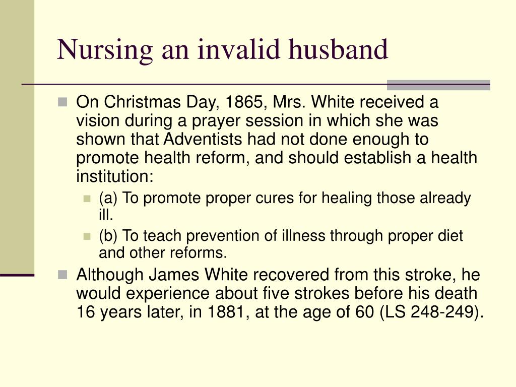 Nursing an invalid husband