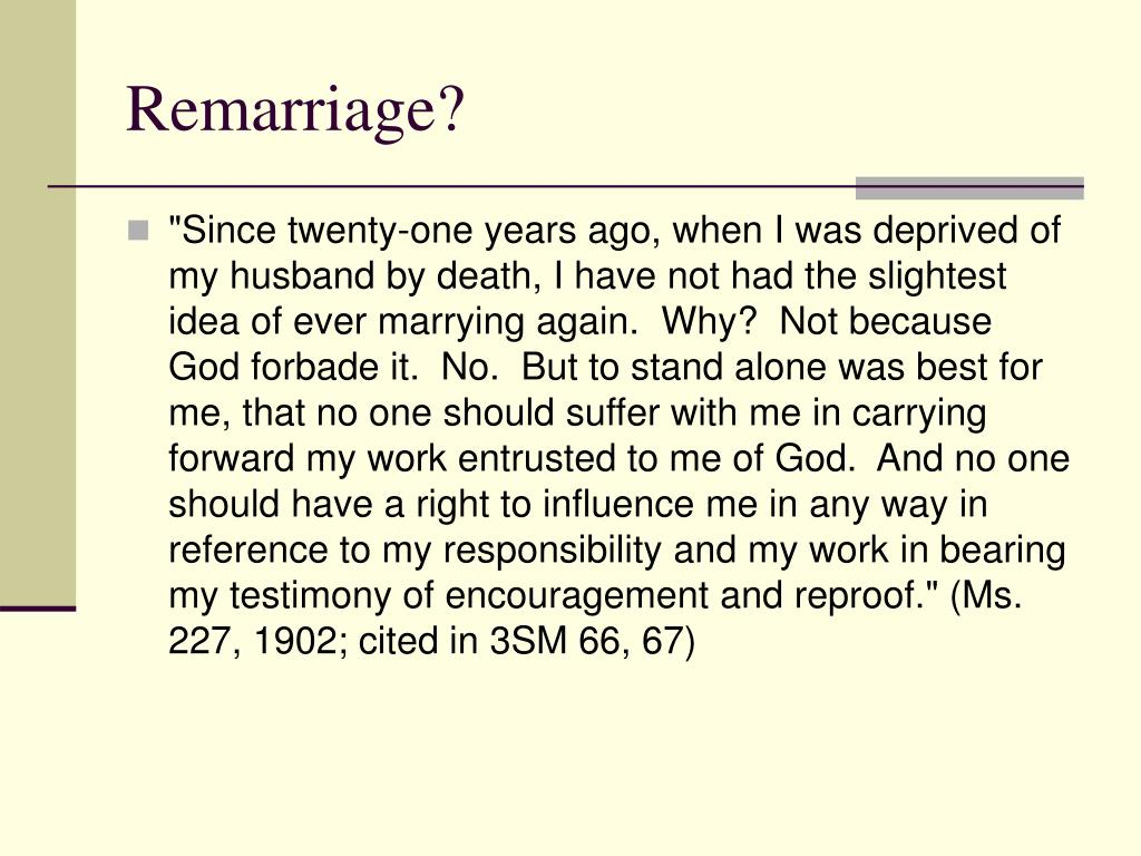 Remarriage?