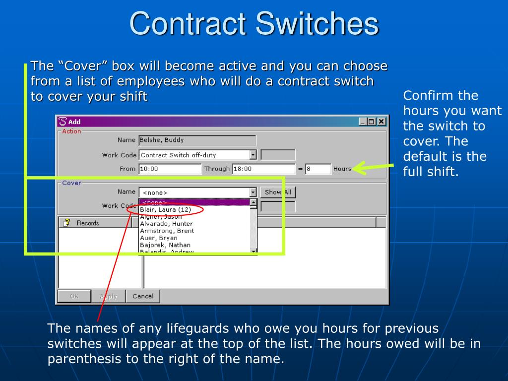 Contract Switches