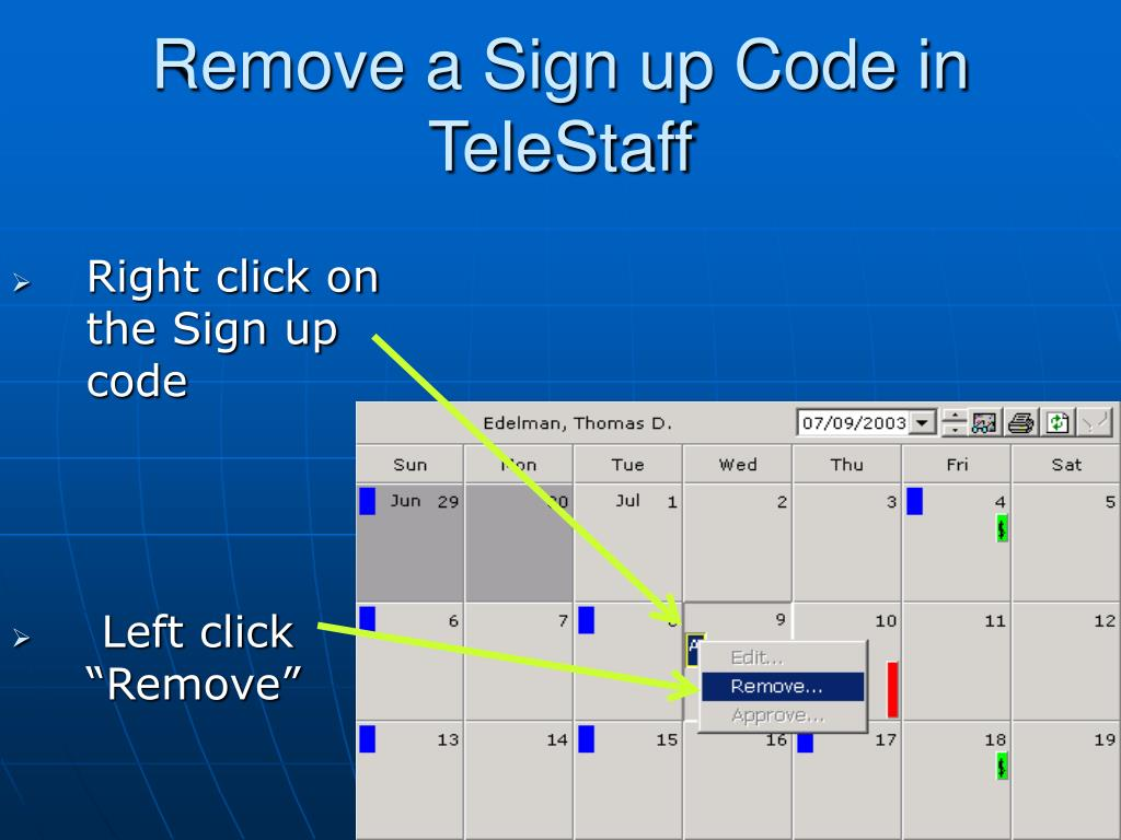 Remove a Sign up Code in TeleStaff