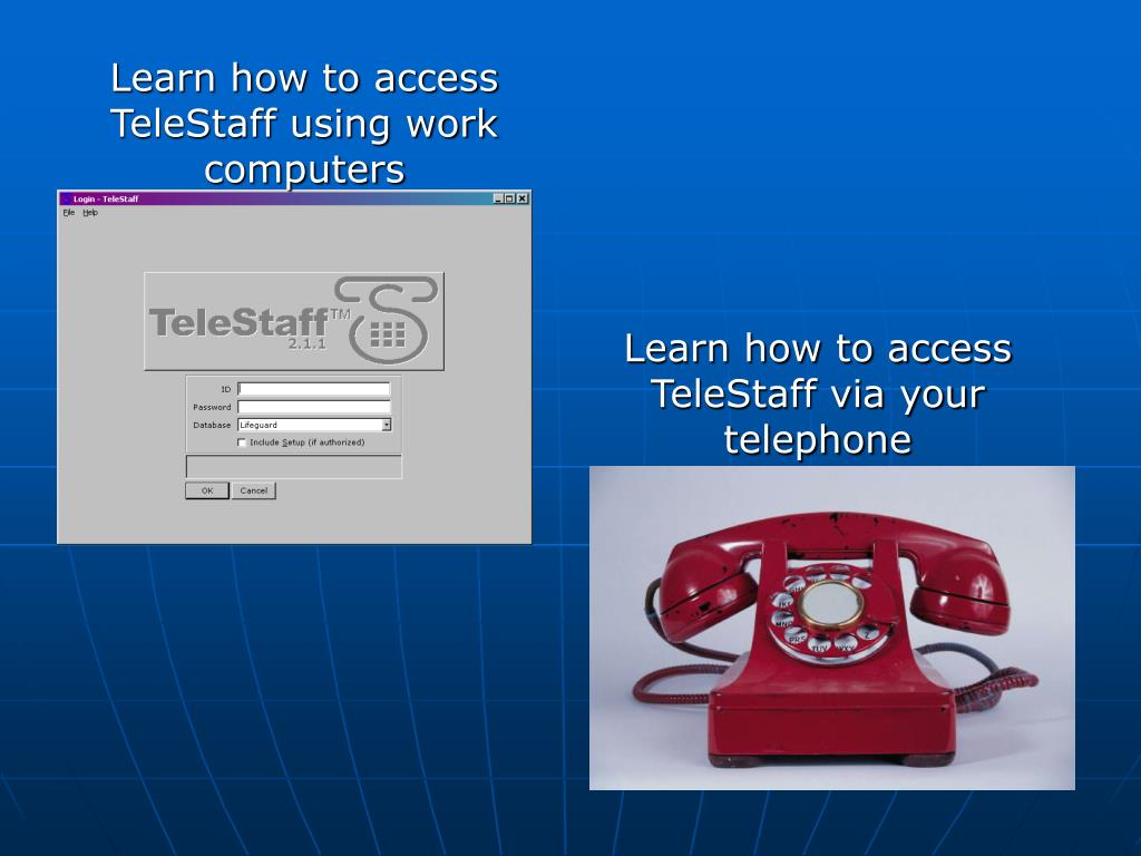 Learn how to access TeleStaff using work computers