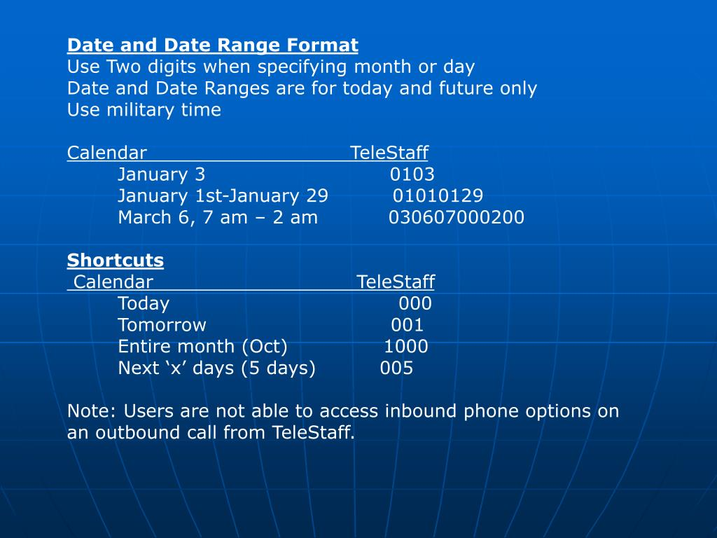 Date and Date Range Format