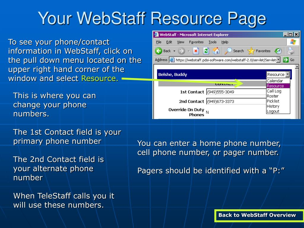 Your WebStaff Resource Page