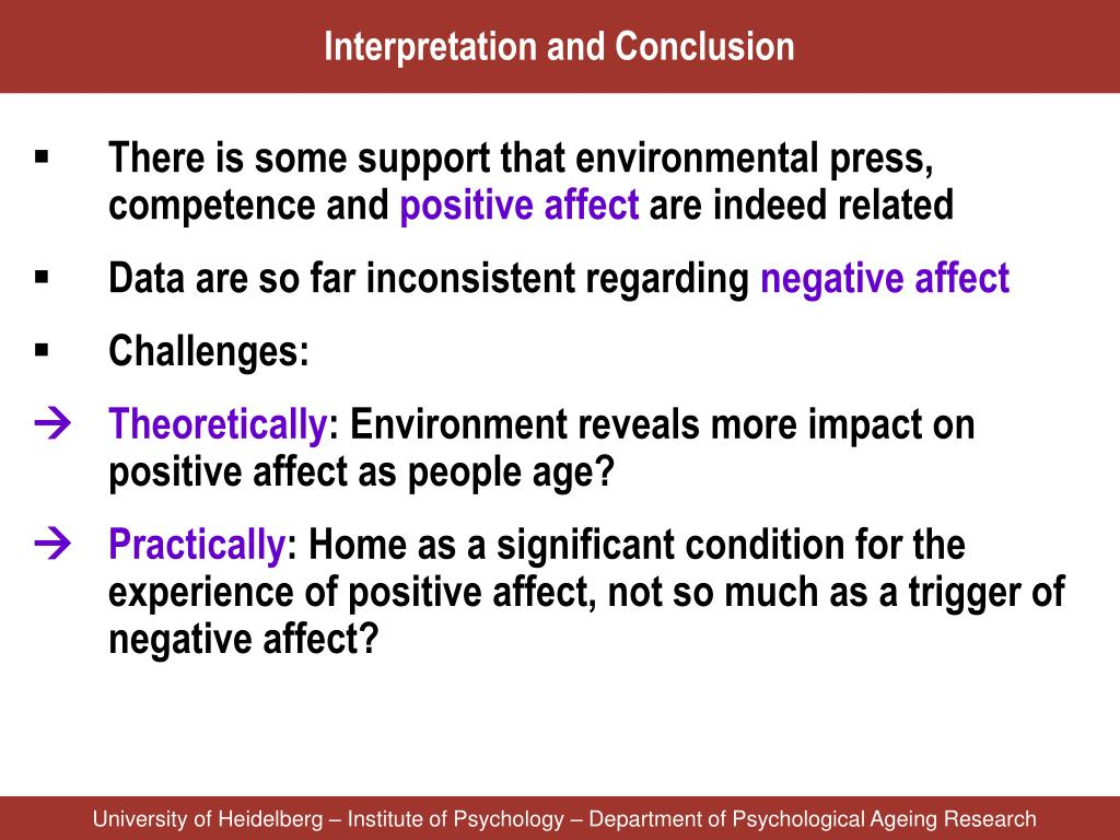 Interpretation and Conclusion