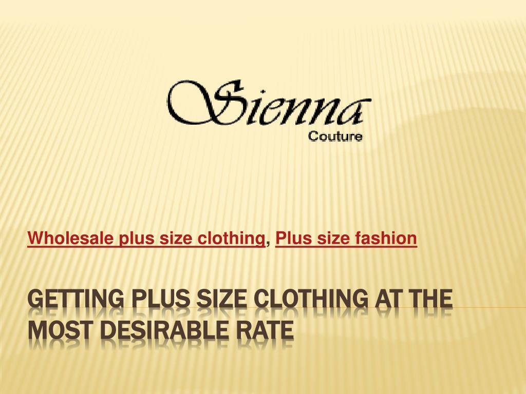 Wholesale plus size clothing