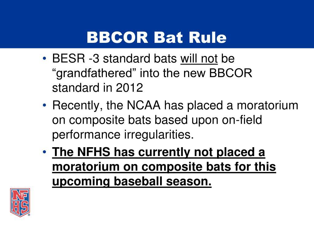 BBCOR Bat Rule