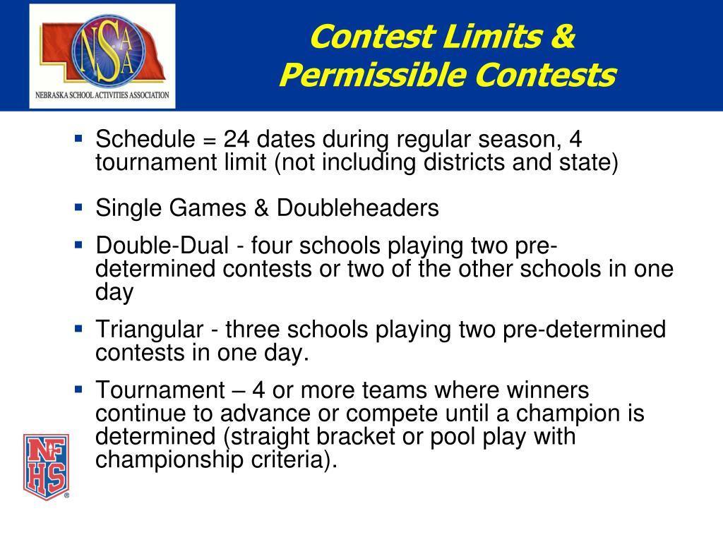 Contest Limits &